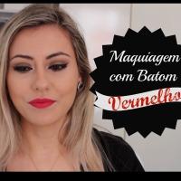 Maquiagem usando Batom Vermelho | All Fired Up da MAC